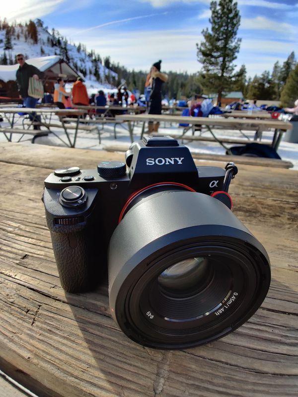 Sony A7ii Body + Sony 50mm F1.8 Lens (Mirrorless Camera)
