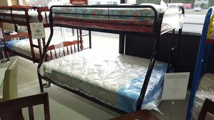 Black Metal Bed Frame - Twin Bunk Bed for Sale in Portland, OR