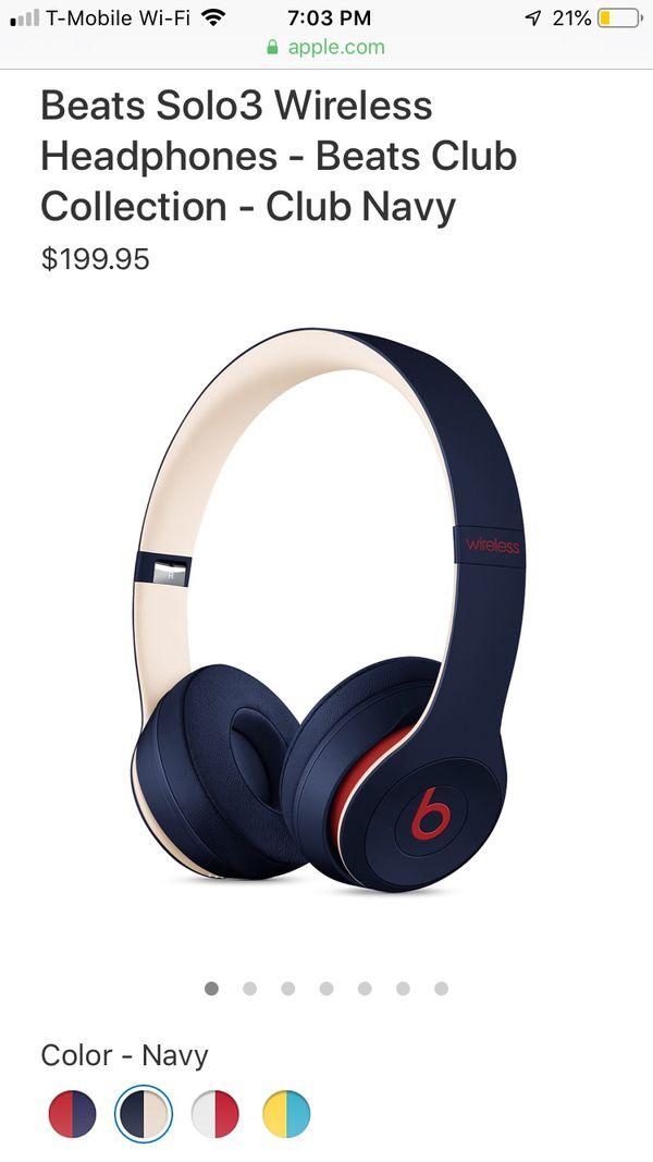Beats Solo3 Wireless Headphones Club Navy