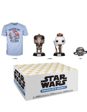 Funko Star Wars Smugglers Bounty Box 2 POPS Tshirt and pin for Sale in Land O' Lakes, FL