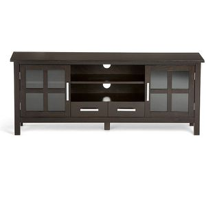 """TV Cabinet for Most TVs Up to 66""""- hickery Brown. .retails at 449 plus tax...needs assembling......24""""H x 60""""W x 17 PRICE IS FIRM for Sale in West Chicago, IL"""
