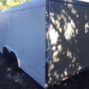 8' X 20 Tandem Enclosed Trailer With Reinforced Ramp Door for Sale in Pompano Beach, FL