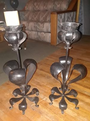 Wrought Iron floor candle holders for Sale in Albuquerque, NM