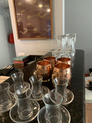 Glassware and Moscow mule copper glasses for Sale in Rockville, MD