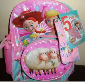 Toy Story 4 Bo Peep 5 Piece Backpack Set for Sale in Brooklyn, NY