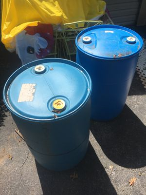 Water storage barrels 55 gallon for Sale in Poolesville, MD