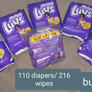 Luvs Diapers & Wipes Package Size 4 for Sale in Ruskin, FL