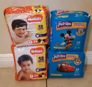 Huggies and pullups size 3, 4 and 3t-4t for Sale in Naples, FL