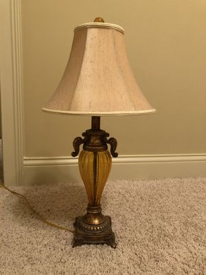 Lamp with bronze and gold glass base for Sale in Franklin, TN