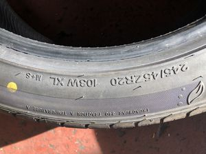 245-45-20 two tires for Sale in Fairfax, VA