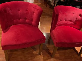 Red Velvet Chair Set for Sale in Los Angeles,  CA