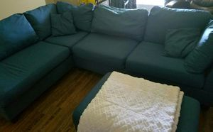 Like new reversible sectional with ottoman for Sale in Fresno, CA