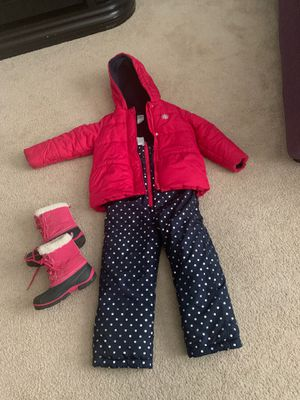 Girls snowsuit and boots- size 6 for Sale in Gilbert, AZ