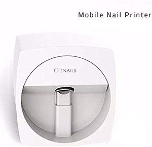 O2 Nails Printer 3D Portable Painting Machine Automatic Mobile Wireless Transfer Digital All-intelligent Nail Printers V11 Model (White for Sale in North Royalton, OH