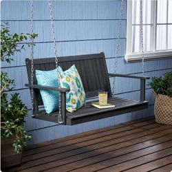Gray Color Wood Porch Swing Lounge Chair for Sale in Corona,  CA