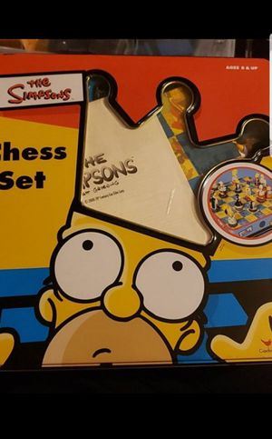 Chess set simpsons edition for Sale in Federal Way, WA