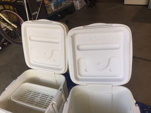 2 igloo brand square coolers for Sale in Chino, CA