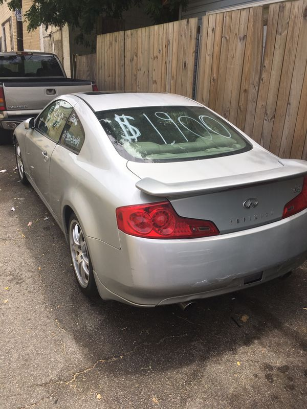 2006 Infiniti G35 it's not a new car so please do not waste my time and yours