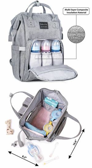 NEW BabyGo backpack waterproof travel diaper bag baby care mom multifunction baby diaper backpack for Sale in Whittier, CA