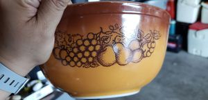 vintage brown Pyrex mixing bowl Cinderella Orchard for Sale in Moreno Valley, CA