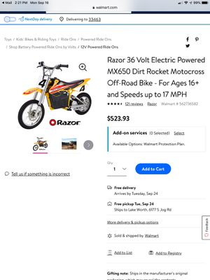 Electric motorcycle for Sale in Lake Worth, FL