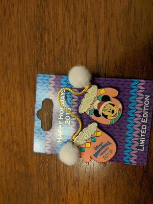 Disney limited edition pin of 750 happy holidays 2015 mitten series Disney BoardWalk resort featuring Minnie Mouse for Sale in Glendale, AZ