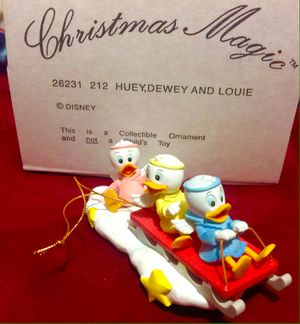 HUEY, DEWEY AND LOUIE Disney Christmas Magic Ornaments. NEW IN BOX for Sale in Nashville, TN