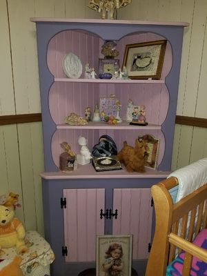 Pink and Purple Amish Made Corner Cabinet for Sale in Rising Sun, MD