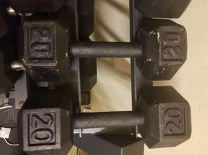 Inexpensive pair of 20 pound dumbbells for Sale in Boynton Beach, FL