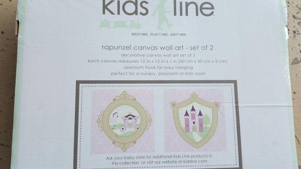 Kids Line - rapunzel canvas wall decor set of 2.
