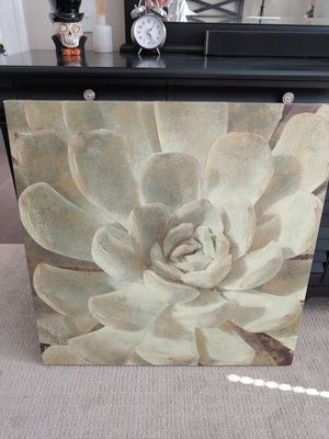 Large canvas succulent art for Sale in Columbus, OH