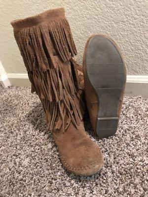 Ladies leather shag/fringe boot for Sale in Denver, CO