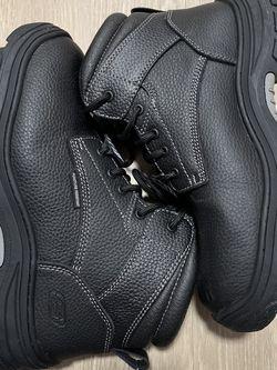 Sketchers Memory Foam, Puncture resistant, Steel Toe Work Boots! Sz 10.5 for Sale in Beaverton,  OR