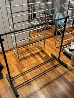 "ROLLINGAdjustable GARMENT rack CLOTHES hanging (adjusts from 32"" to 60"" in height) for Sale in Hoboken,  NJ"