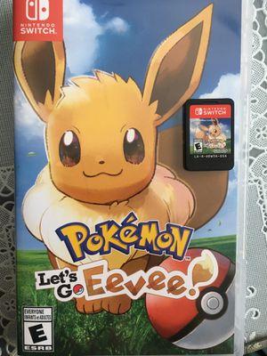 Pokémon Let's Go Evee for Nintendo Switch. $50! for Sale in Garden Grove, CA