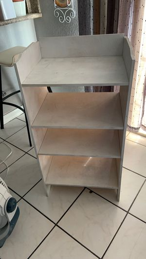 "Shelf cabinet 24"" by 36""high very strong real good for kitchen , bathroom , office boxes not included for Sale in Fontana, CA"
