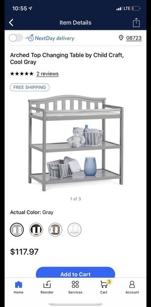 Dark Gray Child Craft Changing Table for Sale in Matawan, NJ