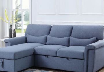 A brand new blue fabric reversible sofa sleeper sectional for Sale in Miami,  FL