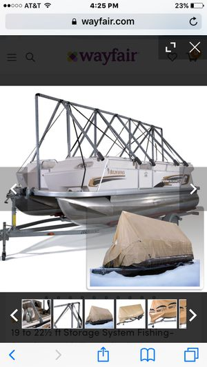 Navigloo tarp system for pontoon boat for Sale in Lynnwood, WA