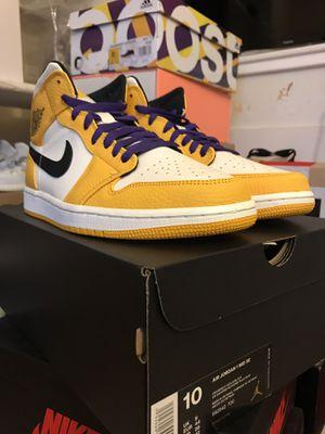 Nike Air Jordan 1 Mid Lakers for Sale in Centreville, VA
