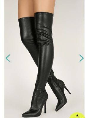 Thigh High Boots (Black) for Sale in Duluth, GA