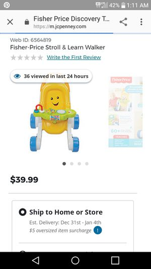 Fisher price stroll and learn walker for Sale in Kingsport, TN