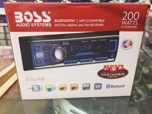 Bluetooth car stereo system available with USB and radio stations. for Sale in Los Angeles, CA