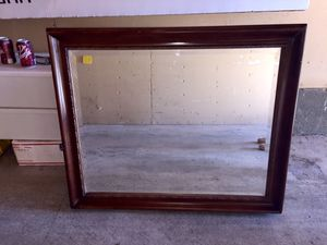 Wall mirror wood beveled glass 30x35 for Sale in Vista, CA