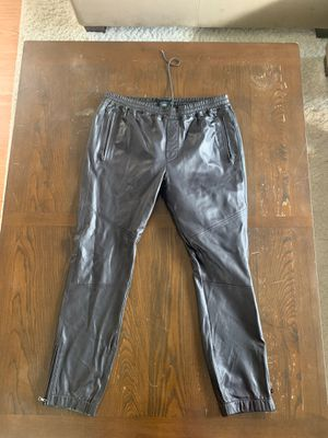 Vince Leather Joggers Size 36 for Sale in Los Angeles, CA