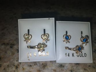 Real gold earring and ring set for Sale in Wichita,  KS