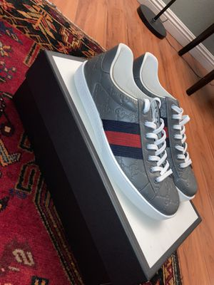 GUCCI ACE GREY SIZE 7 G (SIZE 8 US MENS) BRAND NEW for Sale in Pasadena, CA