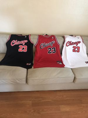 Selling Brand New Michael Jordan Chicago Bulls Jersey Nike Brand for$ 85 each for Sale in San Jose, CA