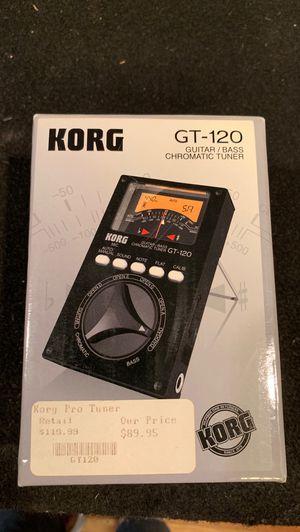 BRAND NEW KORG GT-120 Guitar / Bass Chromatic Tuner for Sale in Elsmere, DE
