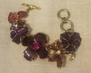 Kenneth Jay Lane 22k Gold Plated Floral Bracelet for Sale in Denver, CO